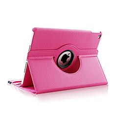Cover Portafoglio In Pelle con Supporto Rotazione per Apple iPad Air 2 Rosa Caldo