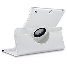 Cover Portafoglio In Pelle con Supporto Rotazione per Apple iPad Mini 3 Bianco