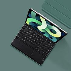 Cover Portafoglio In Pelle con Tastiera K01 per Apple iPad Air 4 10.9 (2020) Verde Notte