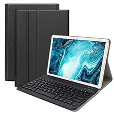 Cover Portafoglio In Pelle con Tastiera K01 per Huawei MatePad 10.8 Nero