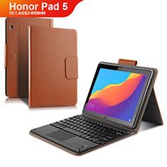 Cover Portafoglio In Pelle con Tastiera per Huawei Honor Pad 5 10.1 AGS2-W09HN AGS2-AL00HN Marrone