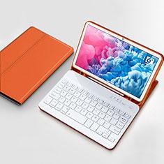 Cover Portafoglio In Pelle con Tastiera per Huawei MatePad 10.8 Arancione