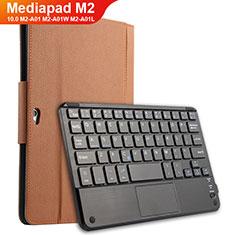 Cover Portafoglio In Pelle con Tastiera per Huawei MediaPad M2 10.0 M2-A01 M2-A01W M2-A01L Marrone