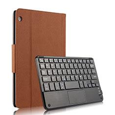 Cover Portafoglio In Pelle con Tastiera per Huawei MediaPad M3 Lite 10.1 BAH-W09 Marrone