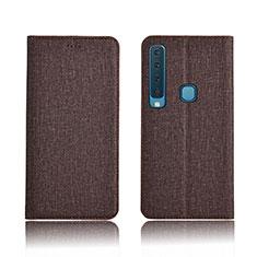 Cover Portafoglio In Pelle Cover con Supporto per Samsung Galaxy A9s Marrone
