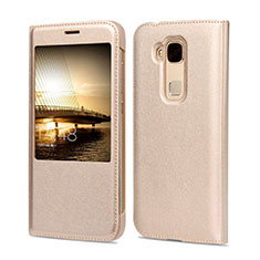 Cover Portafoglio In Pelle per Huawei G7 Plus Oro