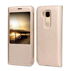 Cover Portafoglio In Pelle per Huawei G8 Oro