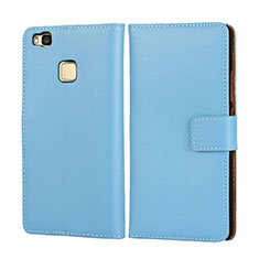 Cover Portafoglio In Pelle per Huawei G9 Lite Cielo Blu
