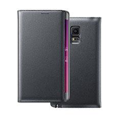 Cover Portafoglio In Pelle per Samsung Galaxy Note Edge SM-N915F Nero