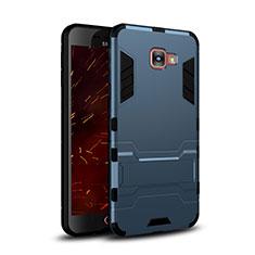 Cover Silicone e Plastica Opaca con Supporto per Samsung Galaxy C7 SM-C7000 Blu