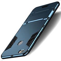 Cover Silicone e Plastica Opaca con Supporto per Xiaomi Redmi Note 5A Pro Blu