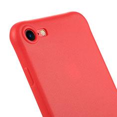 Cover Silicone Morbida Lucido C01 per Apple iPhone 7 Rosso