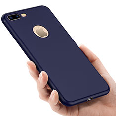 Cover Silicone Morbida Lucido con Foro per Apple iPhone 7 Plus Blu