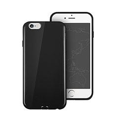 Cover Silicone Morbida Lucido per Apple iPhone 6 Nero