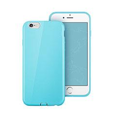 Cover Silicone Morbida Lucido per Apple iPhone 6 Plus Cielo Blu