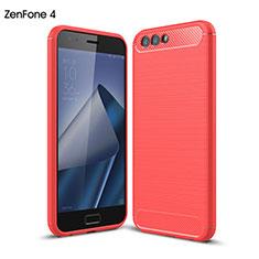 Cover Silicone Morbida Lucido per Asus Zenfone 4 ZE554KL Rosso