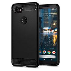 Cover Silicone Morbida Lucido per Google Pixel 2 XL Nero