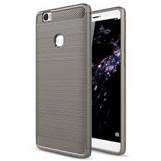 Cover Silicone Morbida Lucido per Huawei Honor V8 Max Grigio