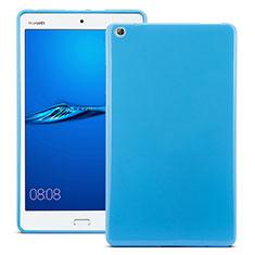 Cover Silicone Morbida Lucido per Huawei MediaPad M3 Blu