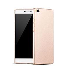 Cover Silicone Morbida Lucido per Huawei P8 Oro