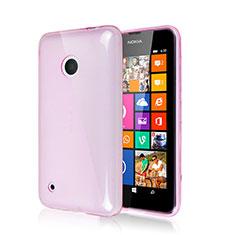 Cover Silicone Morbida Lucido per Nokia Lumia 530 Rosa