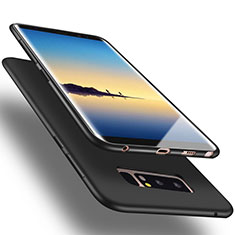Cover Silicone Morbida Lucido per Samsung Galaxy Note 8 Duos N950F Nero
