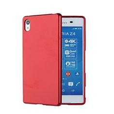 Cover Silicone Morbida Lucido per Sony Xperia Z3+ Plus Rosso