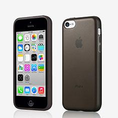Cover Silicone Morbida Opaca per Apple iPhone 5C Nero