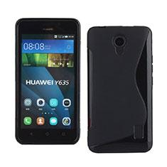 Cover Silicone Morbida S-Line per Huawei Ascend Y635 Dual SIM Nero