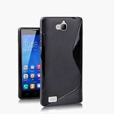 Cover Silicone Morbida S-Line per Huawei Honor 3C Nero