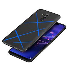 Cover Silicone Morbida Spigato per Huawei Maimang 7 Blu