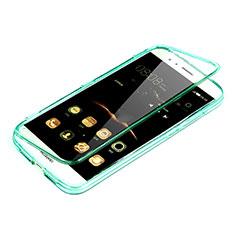 Cover Silicone Trasparente A Flip Morbida per Huawei G8 Verde