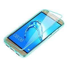 Cover Silicone Trasparente A Flip Morbida per Huawei G9 Plus Cielo Blu