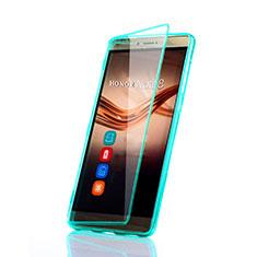 Cover Silicone Trasparente A Flip Morbida per Huawei Honor V8 Max Verde