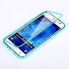 Cover Silicone Trasparente A Flip Morbida per Samsung Galaxy J5 SM-J500F Cielo Blu