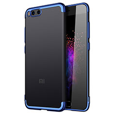 Cover Silicone Trasparente Laterale per Xiaomi Mi Note 3 Blu
