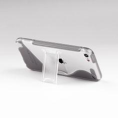 Cover Silicone Trasparente Morbida S-Line con Supporto per Apple iPod Touch 5 Grigio