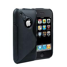Cover Silicone Trasparente Morbida S-Line per Apple iPhone 3G 3GS Nero