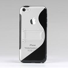 Cover Silicone Trasparente Morbida S-Line per Apple iPhone 5C Nero