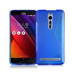 Cover Silicone Trasparente Morbida S-Line per Asus Zenfone 2 ZE551ML ZE550ML Blu