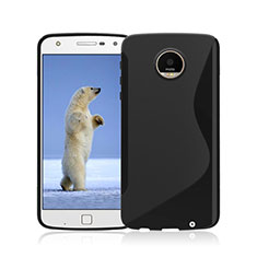 Cover Silicone Trasparente Morbida S-Line per Motorola Moto Z Play Nero