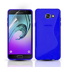 Cover Silicone Trasparente Morbida S-Line per Samsung Galaxy A3 (2016) SM-A310F Blu
