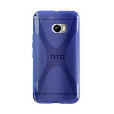 Cover Silicone Trasparente Morbida X-Line per HTC 10 One M10 Blu