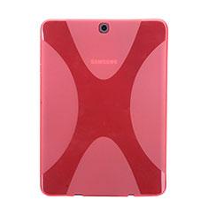 Cover Silicone Trasparente Morbida X-Line per Samsung Galaxy Tab S2 8.0 SM-T710 SM-T715 Rosso