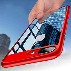 Cover Silicone Trasparente Opaca Laterale B01 per Apple iPhone 8 Plus Rosso