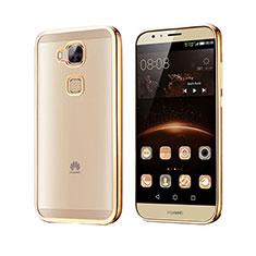Cover Silicone Trasparente Opaca Laterale per Huawei G7 Plus Oro