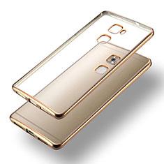 Cover Silicone Trasparente Opaca Laterale per Huawei Mate S Oro