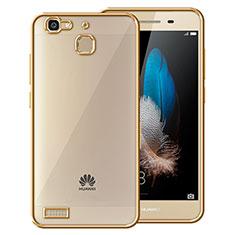 Cover Silicone Trasparente Opaca Laterale per Huawei P8 Lite Smart Oro