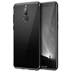 Cover Silicone Trasparente Opaca Laterale per Huawei Rhone Nero