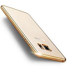 Cover Silicone Trasparente Opaca Laterale per Samsung Galaxy Note 7 Oro